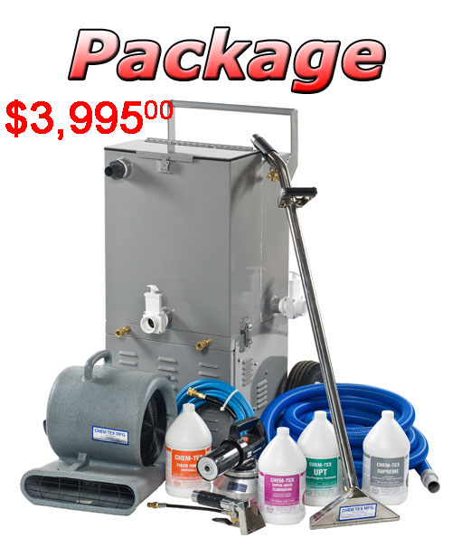 portable carpet cleaning equipment package deal